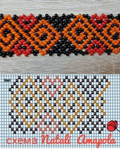 Beading Patterns Free, Bead Loom Patterns, Beading Tutorials, Diy Necklace Patterns, Beaded Jewelry Patterns, Bead Embroidery Jewelry, Beaded Embroidery, Crochet Beaded Bracelets, Beading Techniques