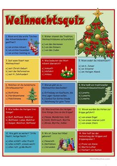 Christmas quiz - Christmas Quiz Worksheet – Free DAF Worksheets The Effective Pictures We Offer You About school f - Christmas Quiz, Winter Christmas, Christmas Time, Merry Christmas, Xmas, Christmas Calendar, Christmas Deco, Senior Activities, Learn German