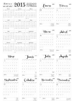 Calendario Anual y Mensual 2015 @pamonisimayo
