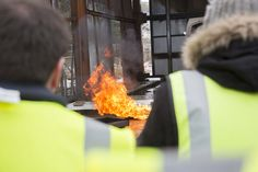 Without proper safety procedures being followed, serious fires can occur in hazardous industries.