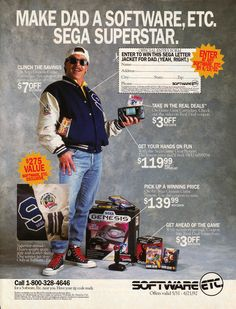 I want to become somebody like this dad  Make Dad A Software, Etc. Sega Superstar.