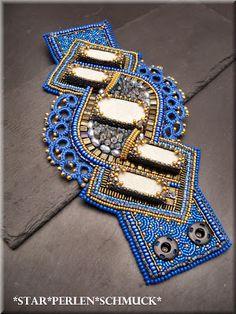 StarPerlenSchmuck: breites Embroidery Armband