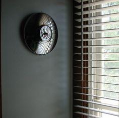 vw hub cap clock for his room