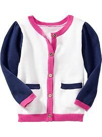 Color-Block Cardigans for Baby