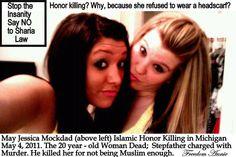 Honor killing Michigan. Islam...the religion of peace.