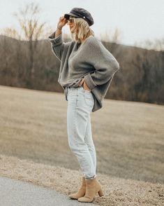 oversized sweater & fisherman hat