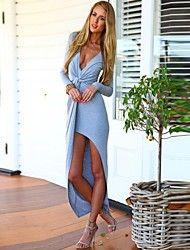 Nuo wei si ®  Women's European V Neck Sexy Long S... – CAD $ 16.31