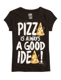 c0b710f47 NWT Justice Girls Pizza Is Always A Good Idea Graphic Tee Top U Pick Size  NEW