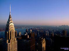 Visão aérea da cidade de New York...
