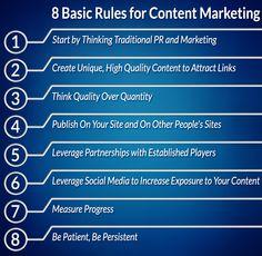 8 Basic Rules for Content Marketing - @plusyourbiz
