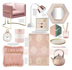 """""""Blushing.."""" by bamaannie ❤ liked on Polyvore featuring interior, interiors, interior design, home, home decor, interior decorating, Kershaw, Kate Spade, Threshold and Home Decorators Collection"""