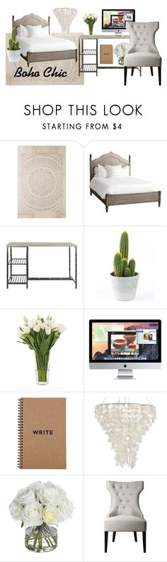 """""""Boho Chic"""" by aelgreen-1 on Polyvore featuring interior, interiors, interior design, home, home decor, interior decorating, Plum & Bow, Redford House, Dot & Bo and NDI"""