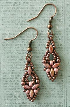 Linda's Crafty Inspirations: Free Beading Pattern: Elinor Earrings
