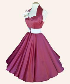50s Halterneck Satin Dresses from Vivien of Holloway   1950s Dresses from Vivien of Holloway