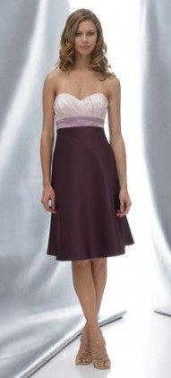 Sweetheart Bridesmaid Dress  short  knee length  a-line