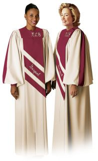 Spread His Word in song while wearing the contemporary REVELATION choir robe.  Choose your own colors, fabrics, and optional embroidered letters or symbols for a look that is just right for your choir.
