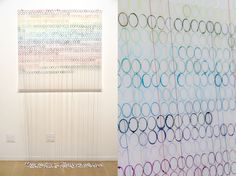 "Lisa Soloman - Template drawing for Sen, 2013, acrylic, embroidery, thread, bobbins on Duralar, 43""x43"" [paper size]"