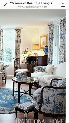 Formal Living Room Sitting Room Blue French Country Decorating Living Room Country Cottage Living Room Country House Decor