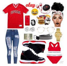 """""""Untitled #77"""" by lina-6-6 ❤ liked on Polyvore featuring RetroSuperFuture, Champion, Calvin Klein, GUESS, Bling Jewelry, Beats by Dr. Dre and Throwboy"""