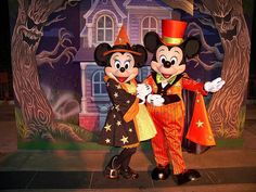 Witch Minnie and Vampire Mickey at Mickey's Trick-Or-Treat Party by Loren Javier on Flickr.
