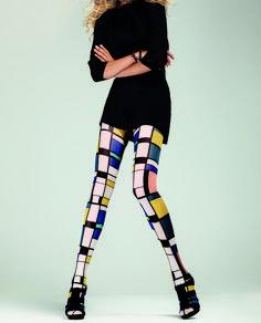Panty inspirado en el artista Mondrian. Mondrian, Colored Tights Outfit, Weekend Outfit, Hosiery, Legs, Inspired, Luxury, Effort, Skirts