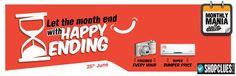 Shopclues  Let the month end with Happy Ending Freebies Every Hour Super Bumper Price  25th June Goosedeals is leading destination for cashback coupons and best deals. Goosedeals offering some of the best deals and best products at very affordable prices, also our website is providing discounts with lowest prices. Grab best deals and cashback coupons More Details visit: http://goosedeals.com/stores1/listing/shopclues/29.html