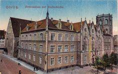 Kościół św. Trójcy (Dreifaltigkeitskirche), Zgorzelec - 1910 rok, stare zdjęcia Old Postcards, Poster, Mansions, House Styles, Postcards, Manor Houses, Villas, Mansion, Billboard