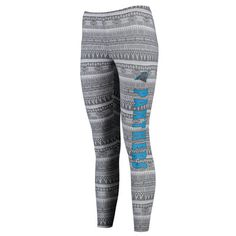 Women's Carolina Panthers Concepts Sport Charcoal Comeback Tribal Print Leggings
