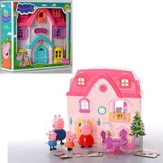 Дом для свинки Пеппы и ее семьи (4 фигурки, мебель)