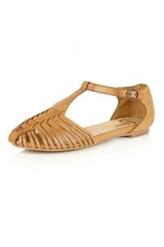 Stroll through summer in these pretty tan coloured Springdale sandals. A chic Ravel sandal featuring a woven strappy leather upper and an on-trend T-bar fastening, these almost flat shoes will give you that edgy but feminine look. Team with a pretty floral dress or your favourite jumpsuit this season. Shoe sizes are UK. UK 3 = US 5; UK 4 = US 6; UK 5 = US 7; UK 6 = US 8; UK 7 = US 9; UK 8 = US 10; UK 9 = US 11   Springdale Strappy Sandals by Ravel. Shoes - Sandals - Flat Highlands and…
