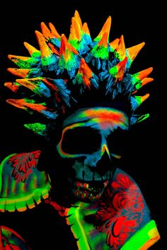 UV Skull by FantasyForFlesh on DeviantArt - ˚Skull - Uv Photography, Psychedelic Drawings, Psy Art, Lion Of Judah, Neon Glow, Skull Art, Fractal Art, Fantasy Art, Art Drawings