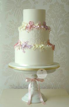 Summer Garden wedding cake