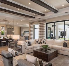 By Interiors By Design West Home Room Design, Dream Home Design, Home Interior Design, Living Room Designs, House Design, Interior Decorating, Home Living Room, Living Room Decor, Plafond Design