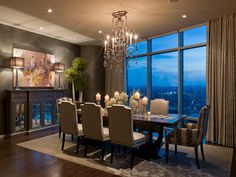 Austonian Luxury Condo contemporary dining room