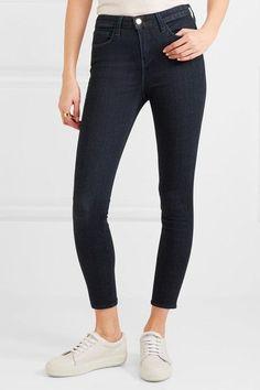 L'Agence - The Margot Cropped High-rise Skinny Jeans - Dark denim - 24