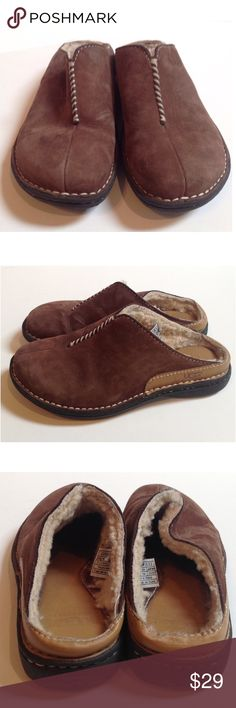 """Brown Leather UGG Clogs NO TRADES. NO MODELING. Pre-owned UGG clogs in good condition. 1"""" heel. Leather. Shearling lined. In good condition. UGG Shoes Mules & Clogs"""
