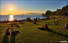 English Bay in Downtown Vancouver is a popular spot with the locals and a beautiful stop whilst touring around the city with your GyPSy Guide