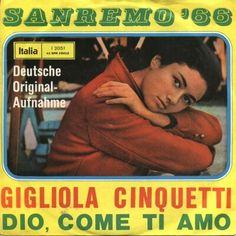 """Gigliola Cinquetti - """"Dio come ti amo"""", german cover version of the italian entry Eurovision Song Contest 1966"""