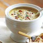 Seafood Chowder recipe - I added garlic, because obviously that makes everything better!