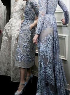 Backstage at Elie Saab Spring/Summer 2013 Couture at Paris Fashion Week.