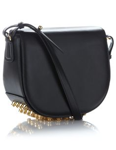 Black Leather Studded Lia Bag | Alexander Wang | Avenue32