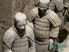 Die Terrakotta Armee vom Kaiser Qín Shǐhuángdì in Halle 3 – Terracotta Warriors of the first emperor Qín Shǐhuángdì in Pit 3 in Xi'an, China