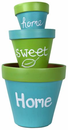 Home Sweet Home Pots project from DecoArt