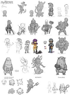 Athena enemies and characters