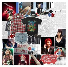"""""""i've found a person who loves mcr as much as i do"""" by elaine-elizabethxo on Polyvore featuring Olsen, R13, ASOS, Hudson Jeans, Levi's, Converse, women's clothing, women, female and woman"""
