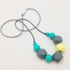 Silicone Teething Necklace, Nursing Necklace - Geometric Necklace on Etsy, $18.09 AUD