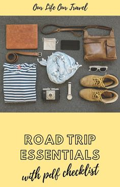 The Best Road Trip Essentials You Need with Downloadable Road Trip Packing List. #roadtrip #packinglist #checklist Packing Tips For Vacation, Road Trip Packing List, Ultimate Packing List, Road Trip Essentials, Road Trip Hacks, Road Trips, Top Travel Destinations, Budget Travel, Travel Tips
