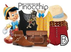 """Pinocchio"" by leslieakay ❤ liked on Polyvore featuring Dogeared, Scoop, Sunny House, Zatchels, C. Wonder and Disney Couture"
