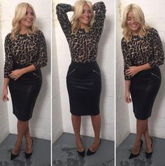 holly willoughby this morning | Holly Willoughby showed off her trim figure as she went back to work ...