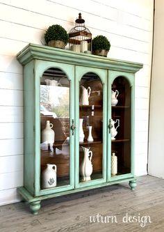 Aqua vintage hutch By uturn design
